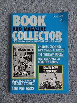 APRIL 1984 Book and Magazine Collector - Dracula, Charles Dickens, William books