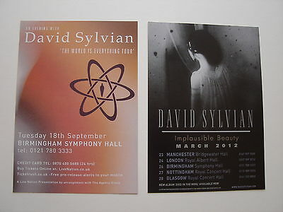 David Sylvian - 2 Different Promo Flyers From 2007 & 2012 - Mint