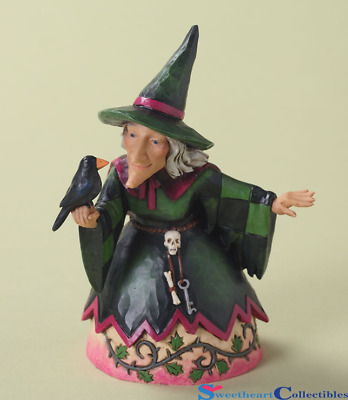 Jim Shore Halloween Pint Size Witch With Crow The Witching Hour