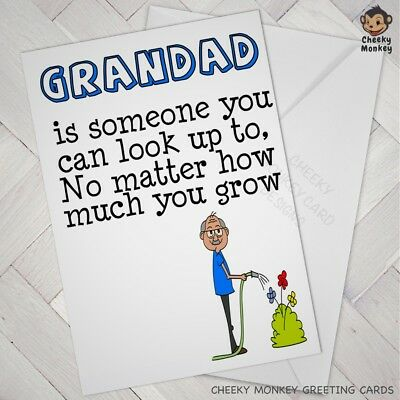 GRANDAD Birthday CARD Grandad Humour Cute Grandpa Grand Dad Grandparent