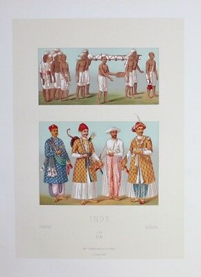 1880 - Beerdigung Begräbnis funeral Indien India Lithographie lithograph