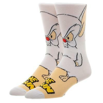 Animaniacs Pinky and the Brain Character Brain Crew Socks