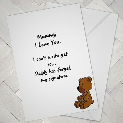 Funny Fathers Day Birthday Card From Baby Toddler Mum Mummy Husband