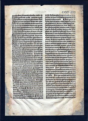 1499 Blatt CCCXII Inkunabel Vita Christi Zwolle incunable Dutch Holland