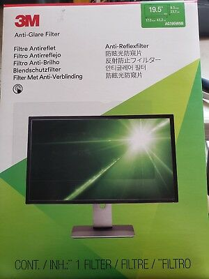 3M Anti Glare Filter Clear 19.5 Computer Screen Monitor Lcd Laptop New Ag195W9B