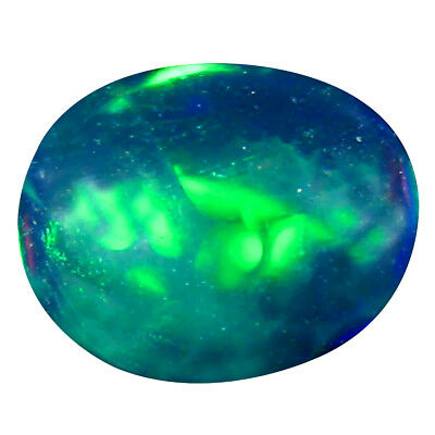 1.23 Ct Incroyable Ovale Coupe Cabochon (9 X 7 Mm) Clignotantes Multicolore