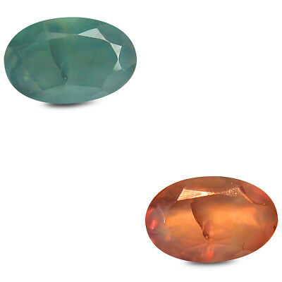 0.47 ct Very good Oval (6x4mm) Un-Heated Color Change Alexandrite Loose Gemstone
