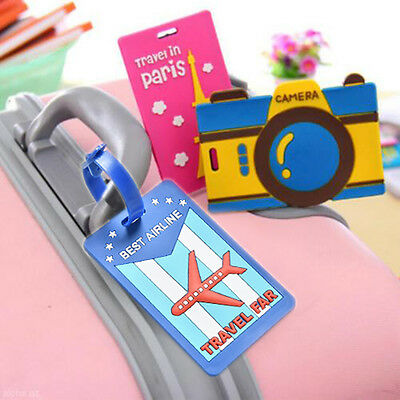 Cute Luggage Tags Strap Name Address ID Suitcase Baggage Travel Label Tags us