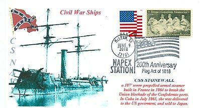 CSS STONEWALL Confederate Ironclad Ram Ship Built in France Naval, Pictorial