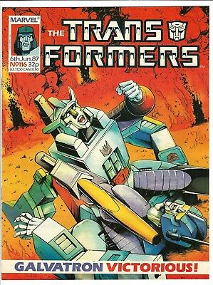 """Transformers Magazine #116 (1987) UK Edition  FN/VF  """"Galvatron"""" Victorious!"""