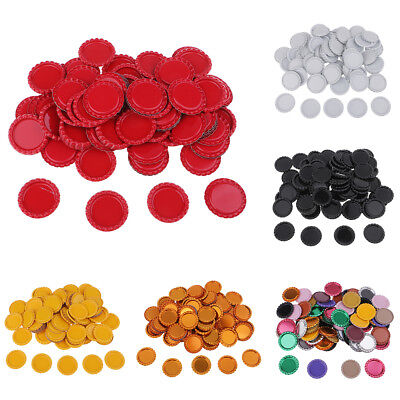 100x Flat Decorative Bottle Cap Craft Double Sided Painted for DIY Hair Bows