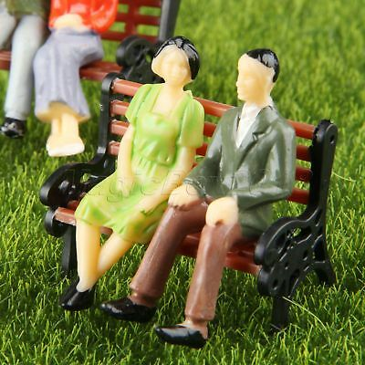 100x Model People Figures Train Layout Scenery Scale 1:100 Painted Sitting Poses