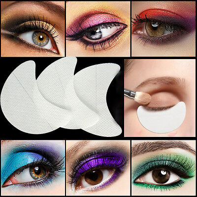 50pcs Eye Shadow Shields Protector Pads For Eyes Lips Makeup Application T Uxym