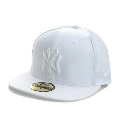 Mens New Era New York Yankees 59Fifty Cap In White