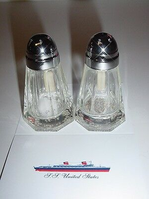 SS UNITED STATES LINES  Pair of Salt & Pepper Shakers