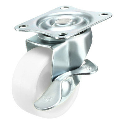 "Swivel Caster Wheels 1.5"" PP Top Plate Mounted Caster Wheel with Brake 2pcs"