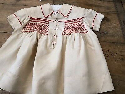 Vintage hand smocked toddler's dress
