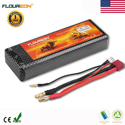 Floureon 2S 7.4V 5200mAh 30C LiPo RC Battery Deans for RC Car Truck Buggy FPV US