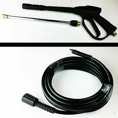 High Pressure Jet Washer Replacement Pipe Hose 8m & Trigger Spray Gun Lance Hand