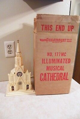 Vintage Christmas Paramount Raylite Electric Church Cathedral Music Original Box
