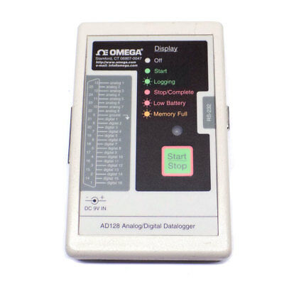 Omega AD128-10 Portable Handheld Analog/Digital Datalogger, Series AD128