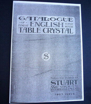 Stuart Crystal 1927 Product catalogue