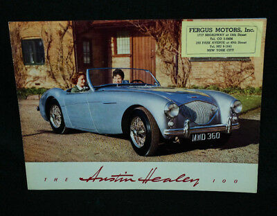 Original 1954 Austin Healey 100 North America Sales Brochure BMC
