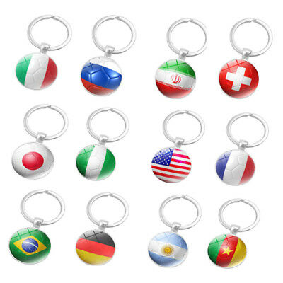 The World Cup Russia Nation Flag Key Chain Ring Soccer Football Brazil Team