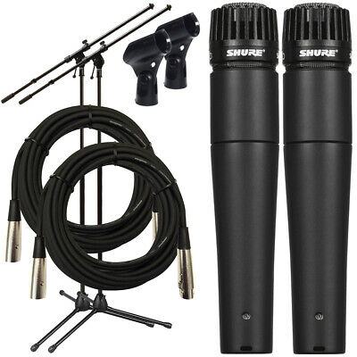Shure SM57-LC Dynamic Instrument Microphone TWIN PERFORMER PAK