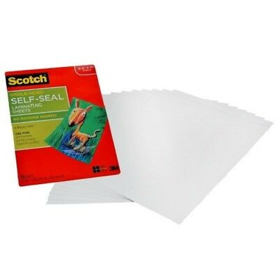 """Scotch Self-Sealing Laminating Sheets 10 Sheets Letter Size 8.5""""x11"""" For Artwork"""