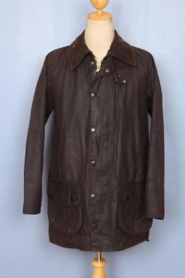 Mens BARBOUR Beaufort Waxed Jacket Brown Size 36
