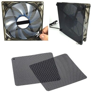 2pcs 12cm Dust Proof Net Computer Fan Case Cooler Filter Dustproof Mesh Cuttable