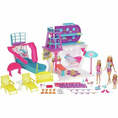 Barbie Cruise Ship Playset with 3 Dolls and 28 Accessories Playset