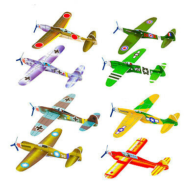 WWII Plane Flying Gliders Ideal Kids Party Bag Fillers Children Toys Game Prizes