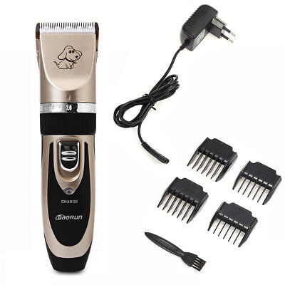 Rechargeable Cordless Electric Dog Hair Trimmer Shaver Clipper Grooming Kit Tool