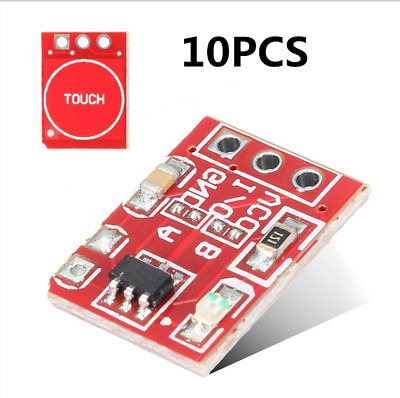 10 PCS TTP223 Touch Key Module Capacitive self Settable No lock Switch Board