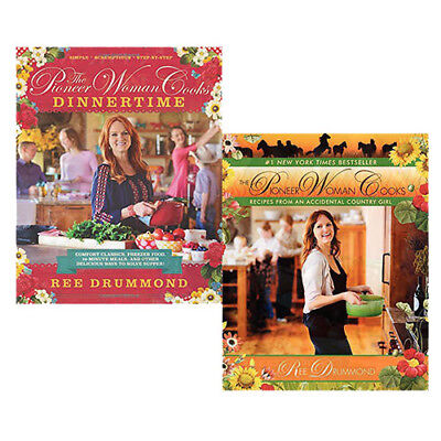 Ree Drummond Pioneer Woman Cooks Dinnertime Recipes 2 Books Collection Set NEW