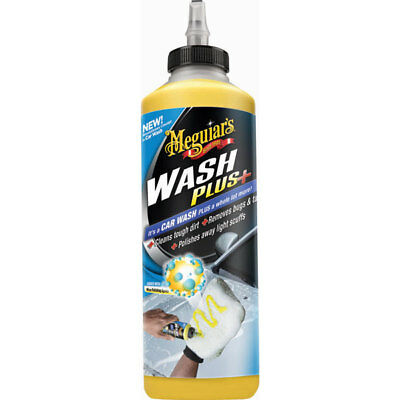 Meguiars G25024EU Car Wash Plus+ 709ml Dirt Grime Bugs Grease Stains Remover