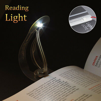 Flexible Folding LED Clip On Reading Book Light Lamp For Kindle Reader Bookmark