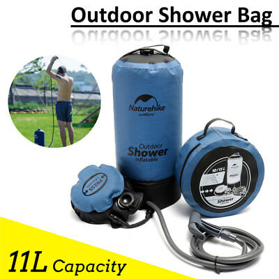 11L Outdoor Shower Wash Bag Portable Bathing Hiking Travel Camping Water Storage