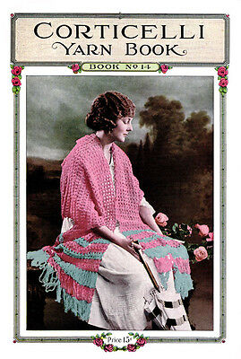 Corticelli #14 c.1920 Vintage Fashion Patterns Lessons in Knitting and Crochet