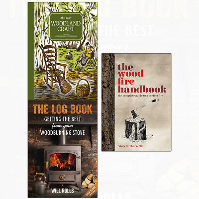 Woodland Craft 3 Books Collection Set Log Book Best From Your Woodburning Stove