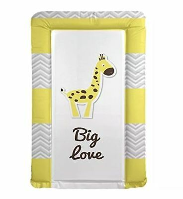 Baby changing mat baby shower gift present - Big Love Giraffe Grey Yellow - FF