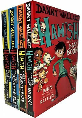 Danny wallace 4 Books Collection Set Hamish WorldStoppers GravityBurp NEW