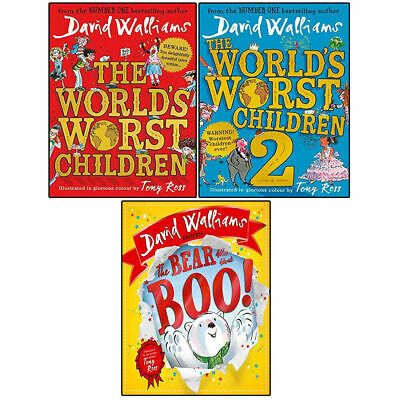 World's Worst Children By David Walliams 3 Books Collection Set Blob BRAND NEW