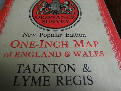 South Devon,war Decade Ordnance Map 1930-45:177: Taunton & Lyme: Jurassic Coast