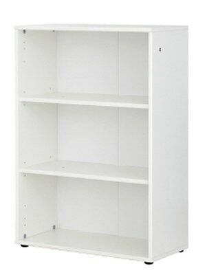 Home Office 2 Shelf Wooden Bookcase White Melamine 79 x 107 x 26cm ZS4