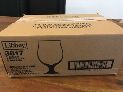Libbey 10oz Belgian Beer Glasses 3817