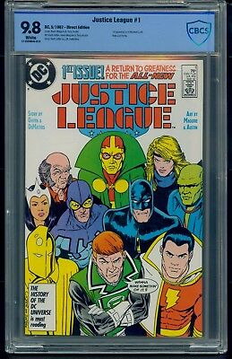 Justice League #1 (1987) CBCS Graded 9.8 ~ Maxwell Lord ~ New JLA ~ Keith Giffen