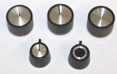 LOT of 5 - B&K BK Precision Replacement Knobs for VTVMs, RF & audio generators